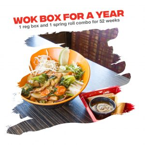 WOK BOX FOR A YEAR!